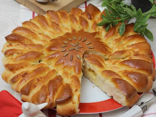 نان پیازچه و خردل