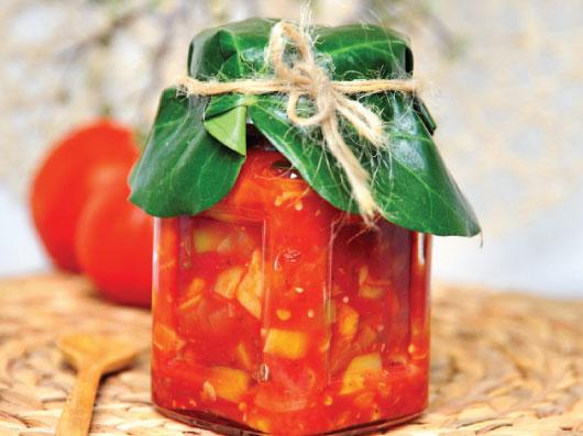 چاتنی گوجهفرنگی و كدو