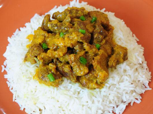 خوراك گوشت تند مغولی
