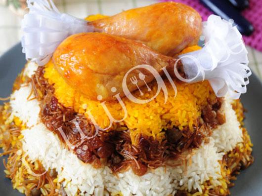 رشته پلو با مرغ (تهران) | طرز تهیه رشته پلو با مرغ