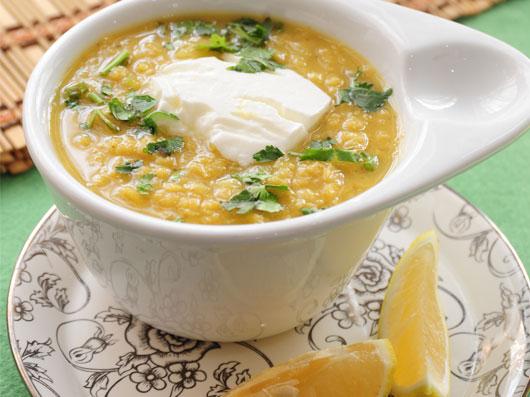 سوپ عدس و كاری