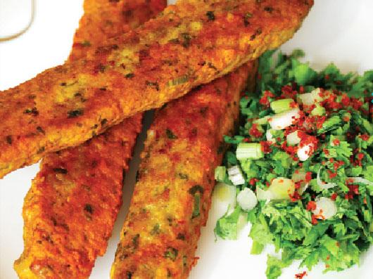 كباب مرغ ابریشمی (غذای هندی)