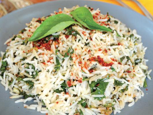 اسفناج پلو (غذای هندی)