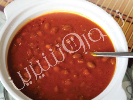 خوراك لوبیا چیتی