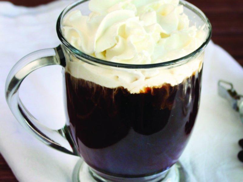 نوشیدنی گرم هلو، قهوه و زنجفیل