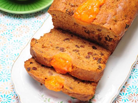 نان شیرینی خرمالو و كشمش