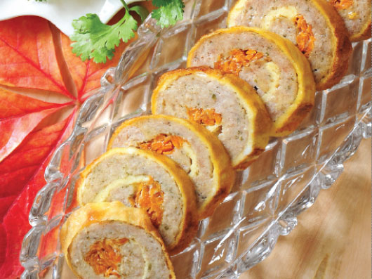 رولهای ماهی و هویج با سس معطر