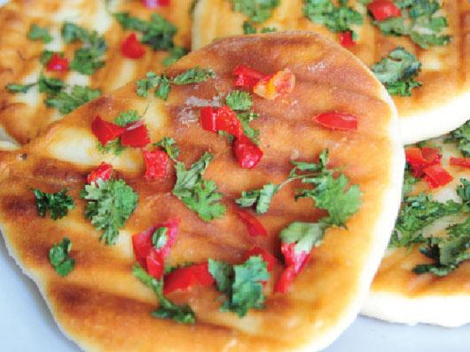 نان چیلی و گشنیز (هندی)