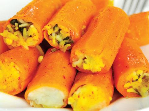 دلمه هویج | طرز تهیه دلمه هویج
