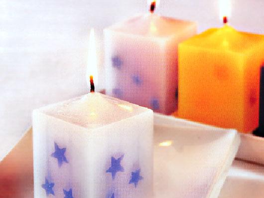 شمع با تزئین ستاره