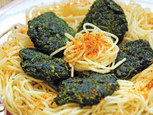 اسپاگتی با اسفناج پنیری