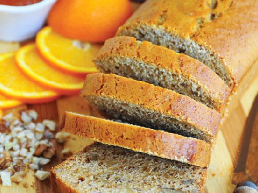 نان چای با پرتقال و عسل