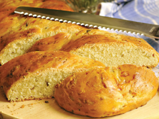 نان گیسباف پنیر و تره