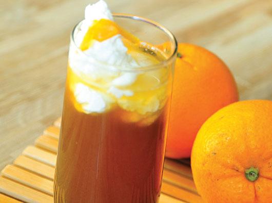 قهوه با خامه پرتقالی