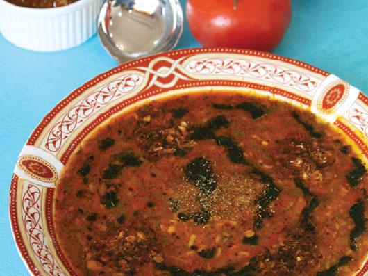 آش گوجه فرنگی در مایكروویو