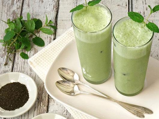نوشیدنی چای سبز و نعنا