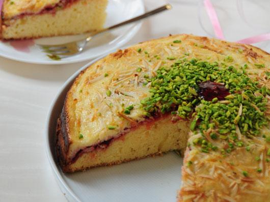 طرز تهیه کیک پنیر  وشاهتوت