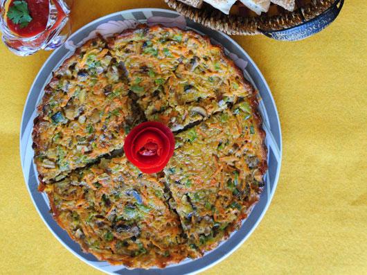 کوکوی هویج و قارچ