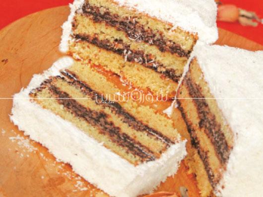 طرز تهیه کیک لمینگتن