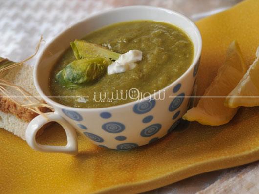 سوپ كلم بروكسل | طرز تهیه سوپ کلم
