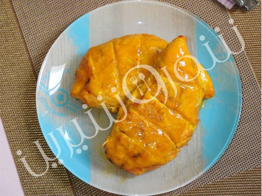 سینة مرغ تنوری با مارمالاد پرتقال