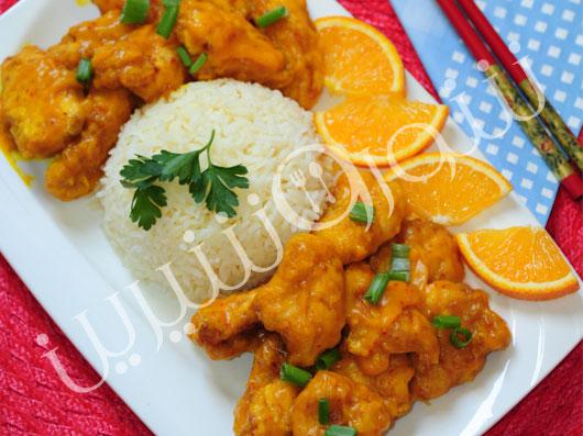 خوراک مرغ و  پرتقال چینی