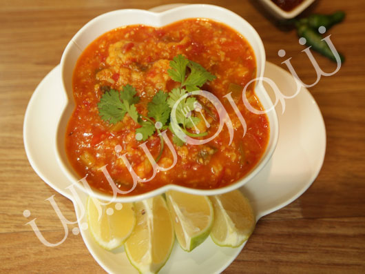 سوپ تند گوجه فرنگی  مكزیکی