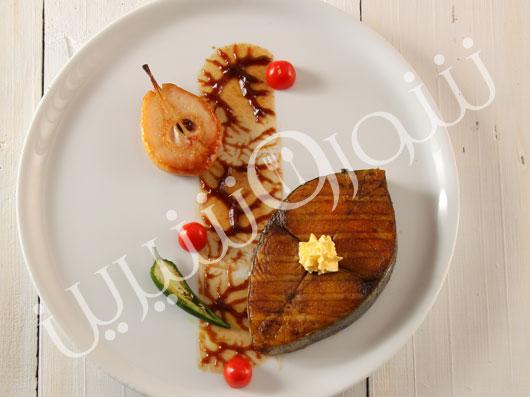 استيك ماهی با سس فرانسوی (كافدوپاری)