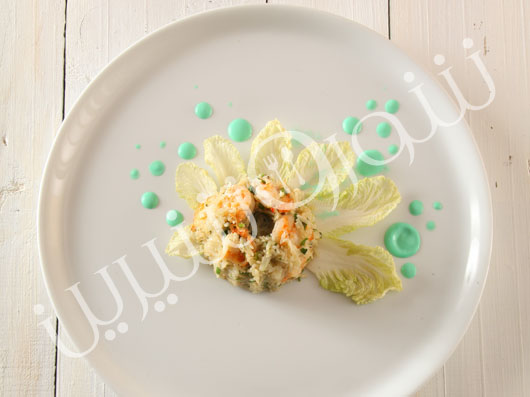 ريزوتوی ميگو و سبزيجات