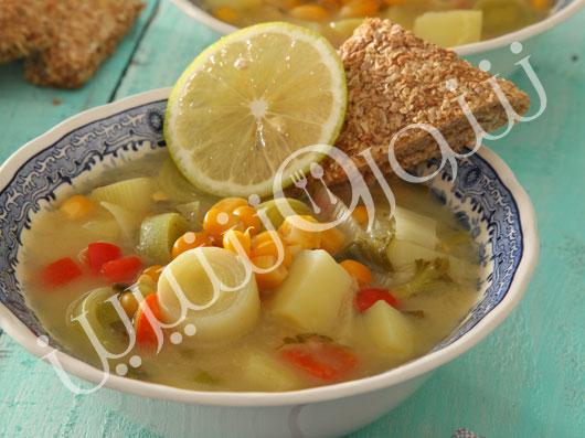 سوپ ماهی و ذرت
