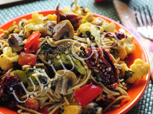 اسپاگتی با سبزیجات