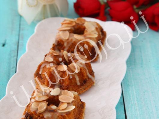 طرز تهیه مینی کیک قهوه و بادام