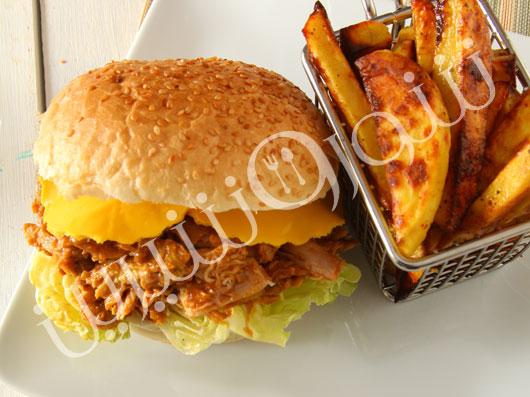 ساندویچ مرغ باربکیو
