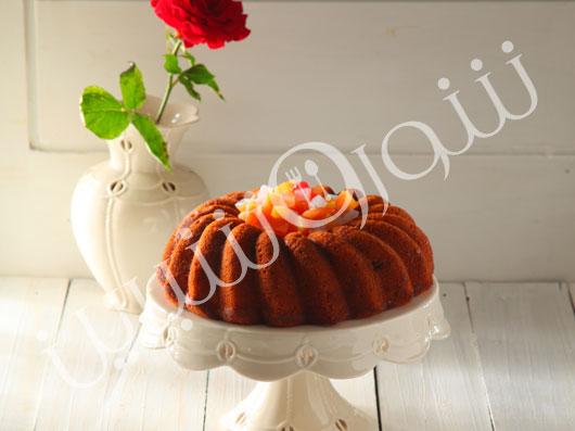 کیک لیمو با میوههای گرمسیری | طرز تهیه کیک