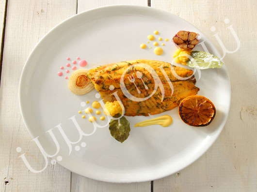 فیلۀ ماهی تیلاپیا با سس زیتون