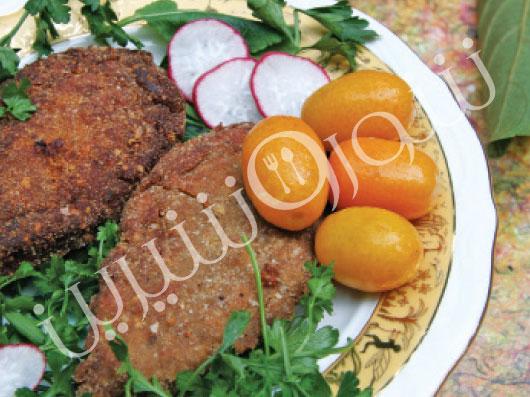 کتلت مرغ با بادام | طرز تهیه کتلت مرغ