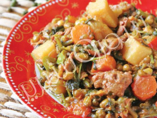 خوراک ماش و گشنیز   طرز تهیه خوراک