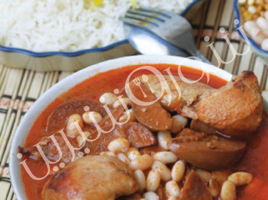 خوراک به و مرغ   طرز تهیه خوراک مرغ
