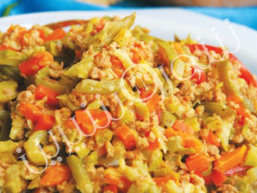 خوراک سبزی با سويا