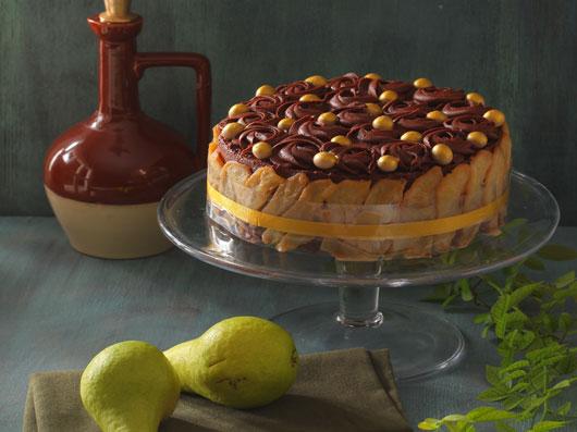 کیک شکلات و گلابی