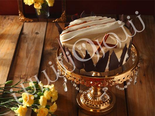 کرم کیک بادام و دارچین