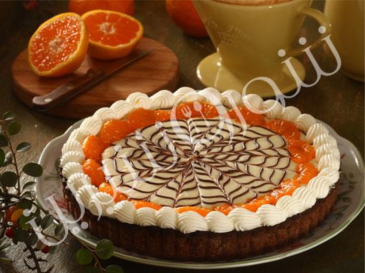 تارت شکلات و نارنگی