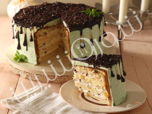 کیک نعنا و شکلات