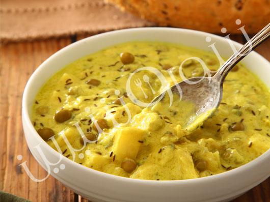خوراک سیبزمینی و نخود فرنگی(آلوماتار)