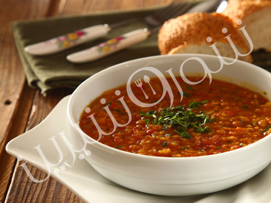 سوپ دال و گوجه فرنگی