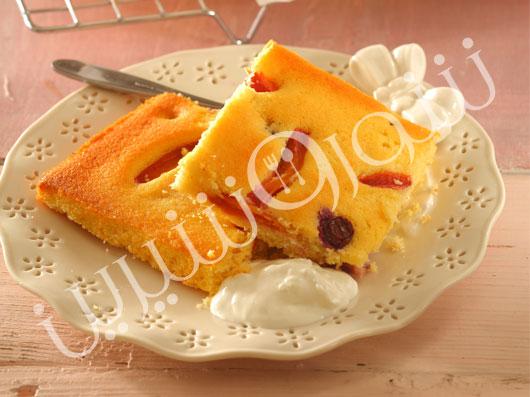 کیک آلو و بلو بری