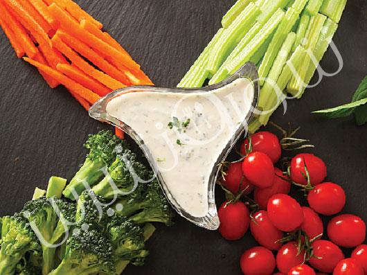 دیپ ماست و سبزیجات
