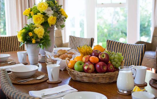 چیدمان میز غذا