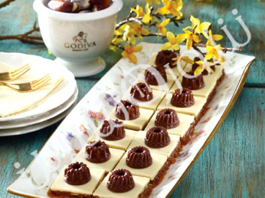 اسلایس کارامل و شکلات سفید