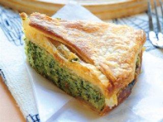 پای یونانی اسفناج و پنیر